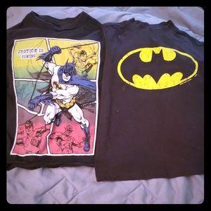2 Batman t-shirts